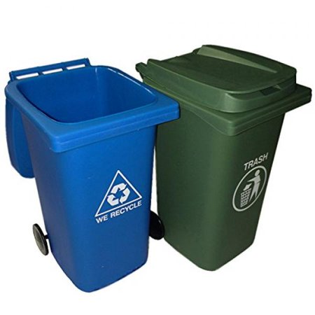 BigMouth Inc The Mini Curbside Trash and Recycle Can (Cash For Your Trash Scrap Recycling In America)