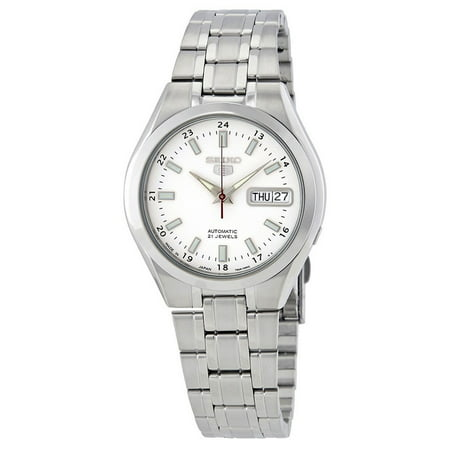 Seiko 5 SNKG17J1 Men's Made in Japan Stainless Steel White Dial Automatic (Large Automatic Steel White Dial)