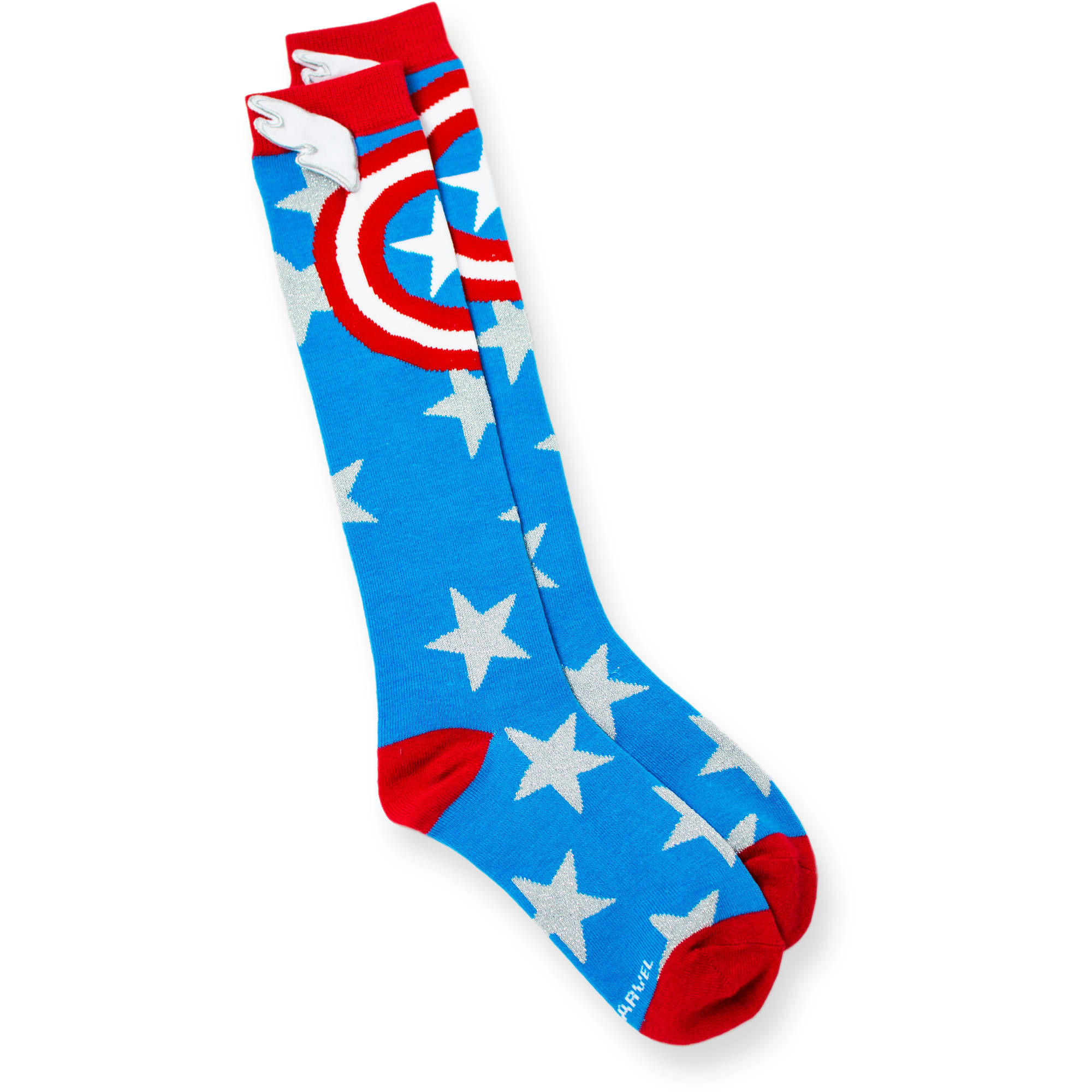 ladies marvel captain america knee high socks walmartcom - Walmart Christmas Socks