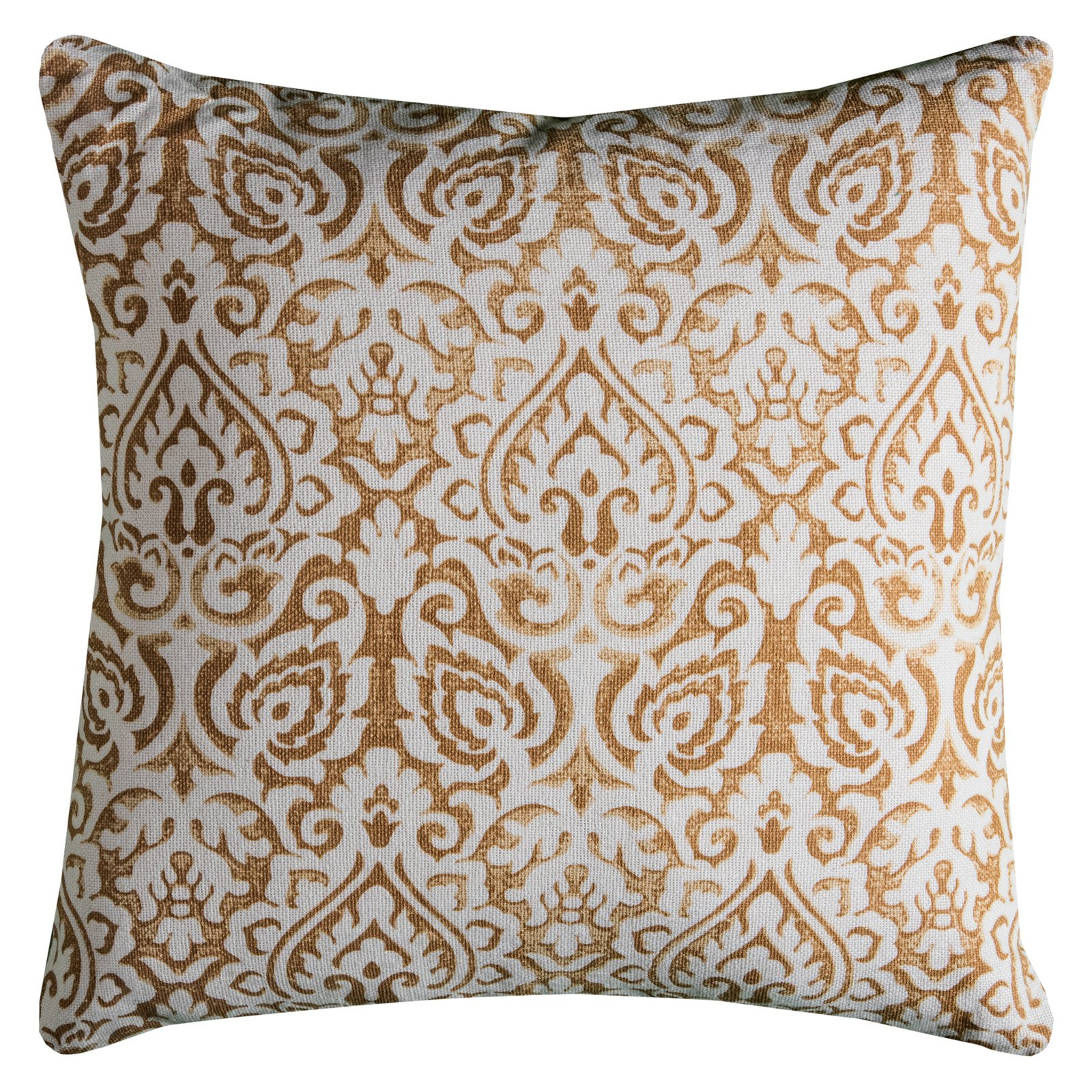 "Rizzy Home Decorative Poly Filled Throw Pillow Damask 22""X22"" Navy"