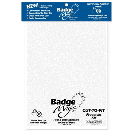 Cut to Fit Freestyle Patch Adhesive Kit (1-pack), The proven, revolutionary way to instantly stick all your badges and patches to uniforms, vests, jackets,.., By Badge Magic ()