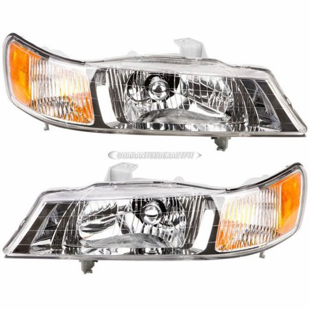 pair new left right headlight assembly for honda odyssey. Black Bedroom Furniture Sets. Home Design Ideas