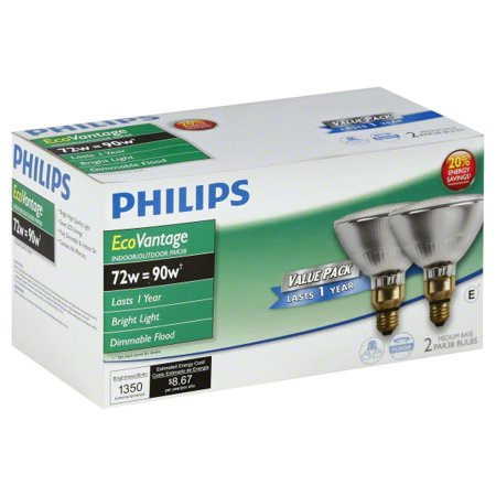 Phillips 429373 72 Watt Par38 Halogen Light Bulb 2 Count