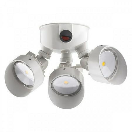 "LITHONIA LIGHTING OLF 3RH 40K 120 PE WH M4 LED Floodlight,9-1/2"" L,White,1 Sensor"