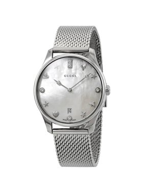 9b003582de3 Product Image Gucci G-Timeless Diamond White Mother of Pearl Dial Ladies  Watch YA1264094