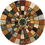 Thirstystone Drink Coasters, Marble Mosaic Design, Set of 4