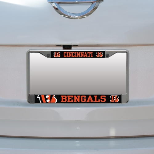 Cincinnati Bengals Small Over Large Mega License Plate Frame - No Size