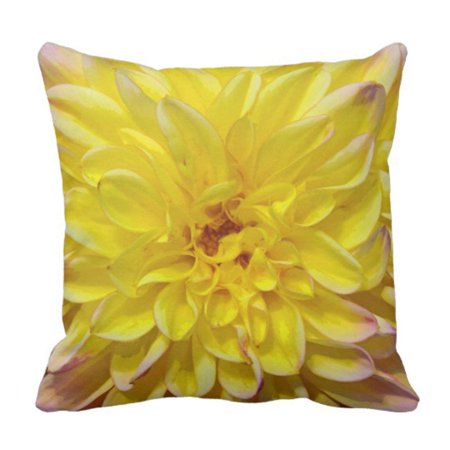 - BPBOP Floral Petals Yellow Dahlia Flower Blooms Pillowcase Cushion Cover 16x16 inches