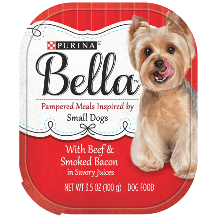 Purina Bella with Beef & Smoked Bacon In Savory Juices Adult Wet Dog Food - 3.5 oz. Tray - Halloween Savory Foods