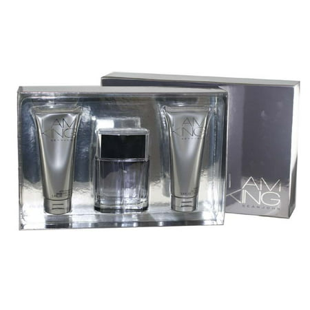 I Am King 3 Pc. Gift Set ( Eau De Toilette Spray 3.4 Oz + Shower Gel 3.4 Oz + Aftershave Balm 3.4 Oz (Best Smelling Aftershave Balm)