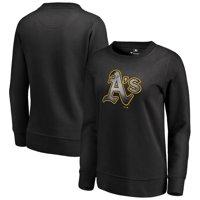 Oakland Athletics Fanatics Branded Women's Core Smoke Fleece Sweatshirt - Black