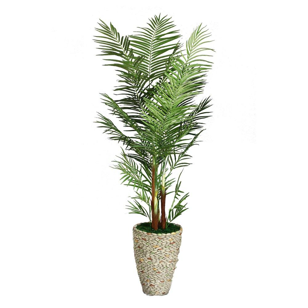 82-in Tall Palm Tree in 16-in Fiberstone Planter