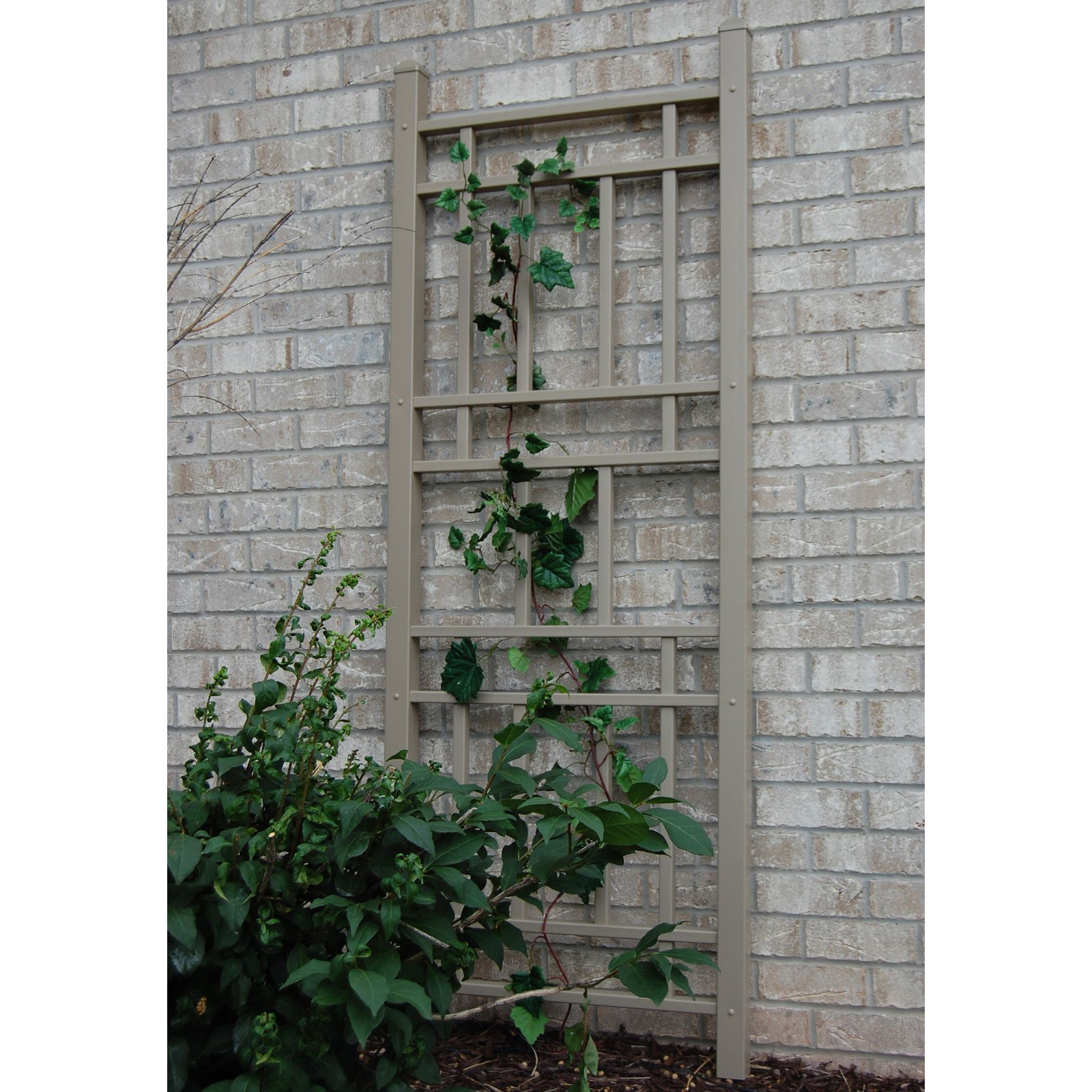 Dura-Trel Wellington 6.25-ft. Vinyl Wall Trellis Mocha by Dura-Trel Inc