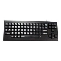 Chester Creek, Wireless large-key keyboard BLACK LETTERS ON WHITE / IVORY KEYS BLACK FRAME (Catalog Category: Input Devices-Wireless / Keyboards- Wireless)