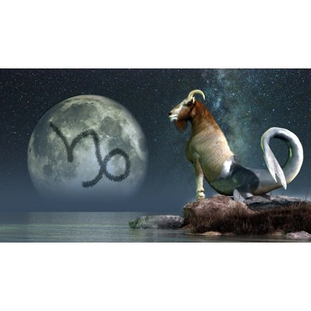 Capricorn Is The Tenth Astrological Sign Of The Zodiac Canvas Art   Daniel Eskridgestocktrek Images  19 X 11