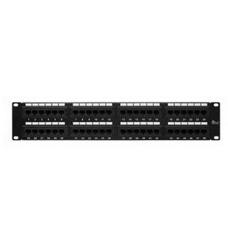 Cmple 1102-N Cat5 Panel 110 Type 48 port, 568A,B Compatible, Enhanced, Patch Panels 48 Port Patch Panel Standard