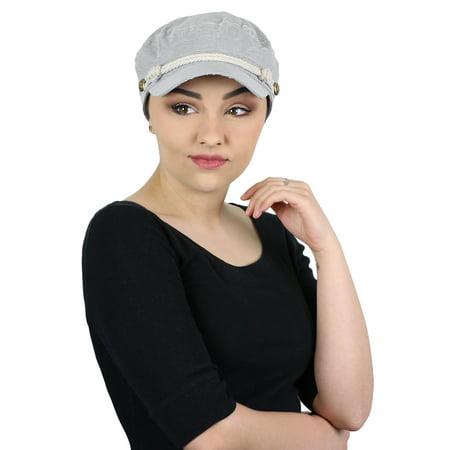 Newsboy Hats For Women - Summer Hats Beach Sun Newsboy Cap For Women Ladies Nautical Cabbie Chemo Headwear Head Coverings Seersucker Black