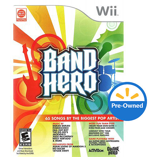 Band Hero (Wii) - Pre-Owned - Game Only