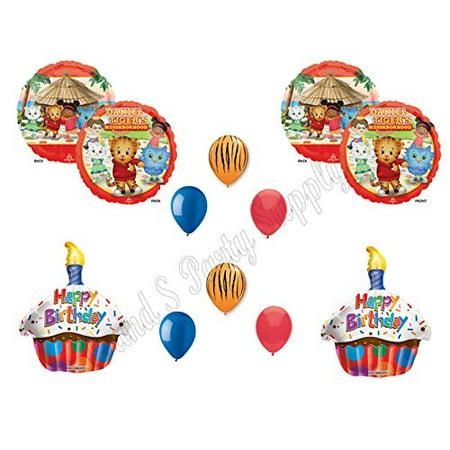 DANIEL TIGER'S NEIGHBORHOOD Owl 10 pc. Birthday Party Supplies Balloons Decorations (Daniel Tiger Birthday Supplies)