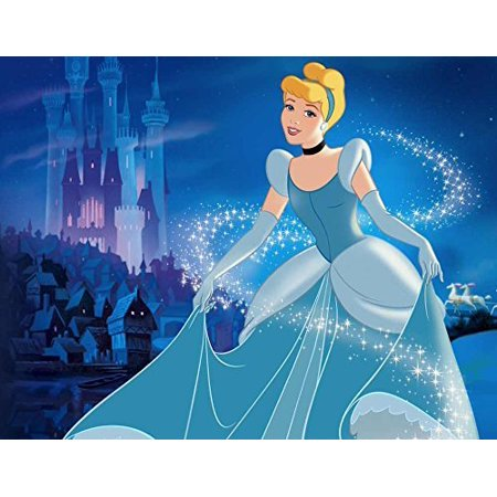 Cinderella Edible Image Photo Cake Frosting Icing Topper Sheet Birthday Party - 1/4 Sheet - 79193 - Cinderella Cake Topper