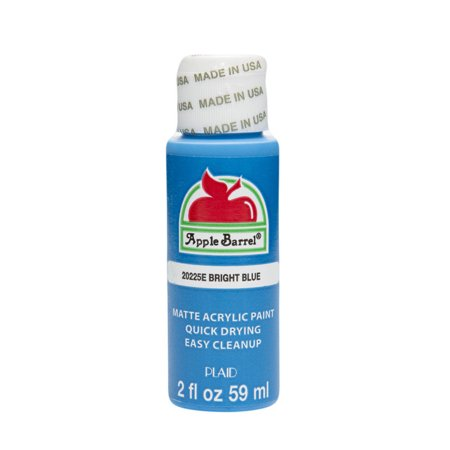 Apple Barrel Matte Finish Acrylic Craft Paint by Plaid, Bright Blue, 2 oz.