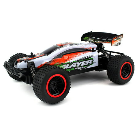 Baja Slayer Remote Control RC Buggy Car 2.4 GHz PRO System 1:12 Scale Size RTR w/ Working Suspension, Spring Shock Absorbers (Colors May Vary) (Wolf Pro Remote Control Car)