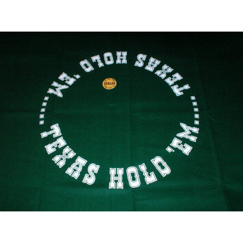 Play All Day Games Texas Hold'Em Layout Game Mat