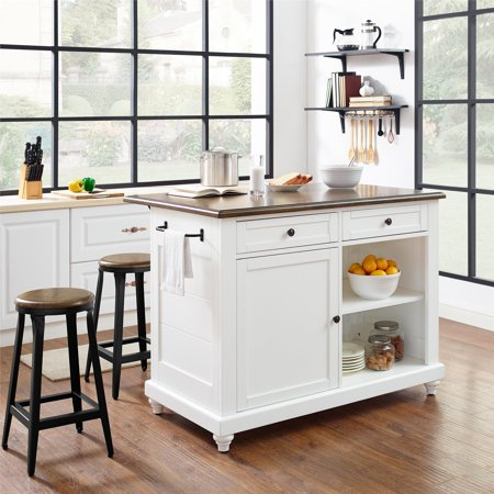 Amazing Dorel Living Kelsey Kitchen Island With 2 Stools White Frankydiablos Diy Chair Ideas Frankydiabloscom