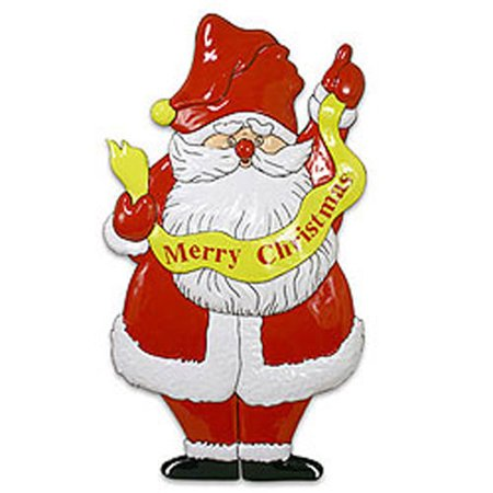 Four Seasons 12440260 Merry Christmas Decoration Santa Wall Accent Door Plaque ()