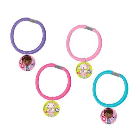Doc Mcstuffins Hair Ponytail Holder Favors (4 Pack) - Party Supplies