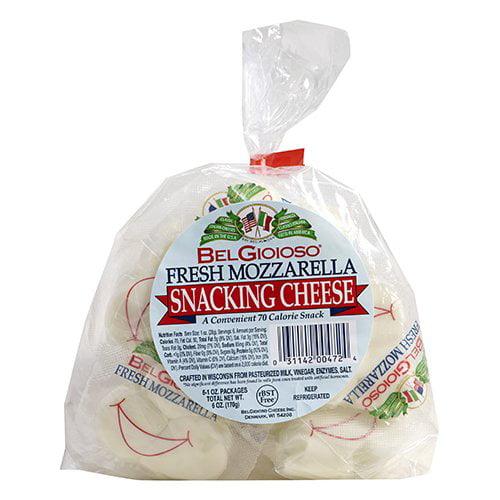 BelGioioso Fresh Mozzarella Snacking Cheese, 1 oz, 6 count