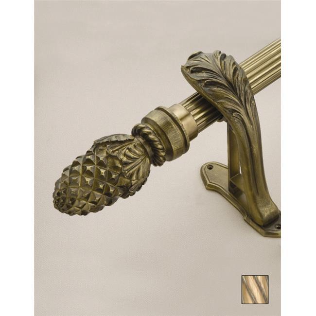 WinarT USA 8. 1073. 45. 21. 360 Palas 1073 Curtain Rod Set - 1. 75 inch - Oxidized Brass - 141 inch