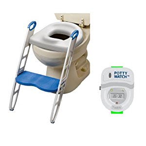 Mommy's Helper Contoured Cushie Step Up with Potty Watch Potty Training Device, Green