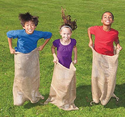 Lot of 6 Potato Sacks for Sack Race the Sacks are 41 in x 41 in