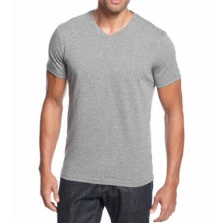 Alfani new gray heather flint mens size big 4x tall v for Mens tall v neck t shirts