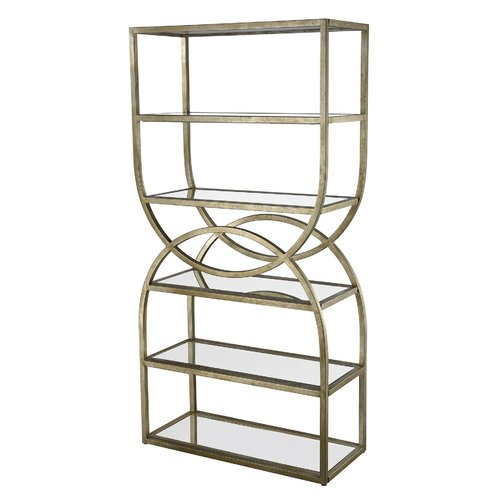 Willa Arlo Interiors Rister Intersecting Rounds 72'' Etagere Bookcase by