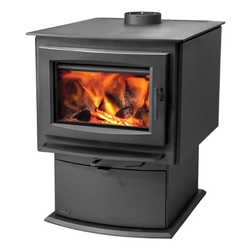Napoleon S9 85000 BTU 3.0 Cubic Foot Wood Stove with Removable Ash Pan from the