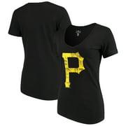 5af479ac533 Pittsburgh Pirates New Era Women s V-Neck T-Shirt - Black