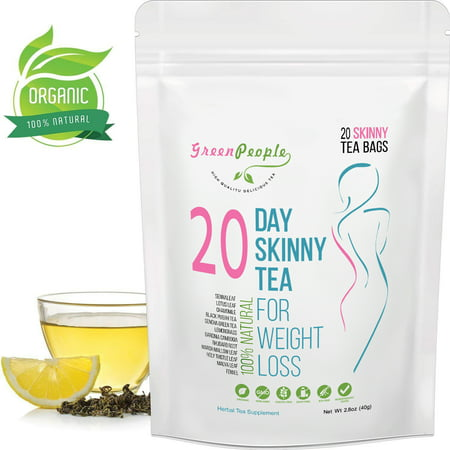 GreenPeople Skinny Tea, Diet Detox Tea, Teatox and Appetite Suppressant, Reduce Bloating and Constipation for Weight Loss, 20-pcak