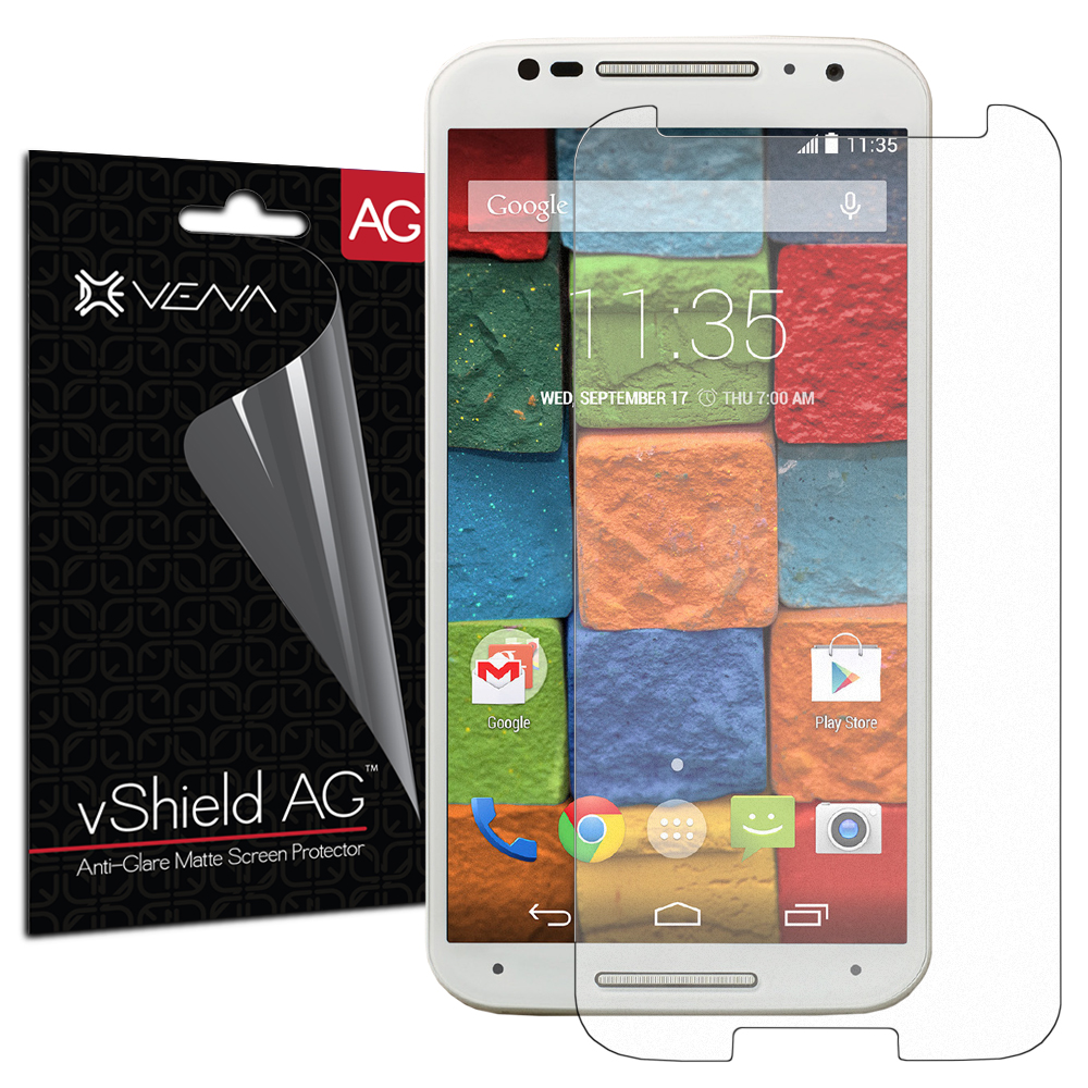 Motorola Moto X (2nd Gen, 2014) Screen Protector - Vena vShield [Anti-Glare Matte] Anti-Scratch Shield (3 Pack)