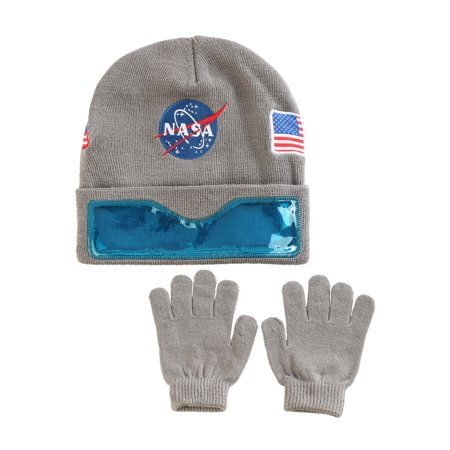 NASA Convertible Cuff with Clear Visor Ski Hat and Gloves for kids - Michael Jackson Hat And Glove For Kids