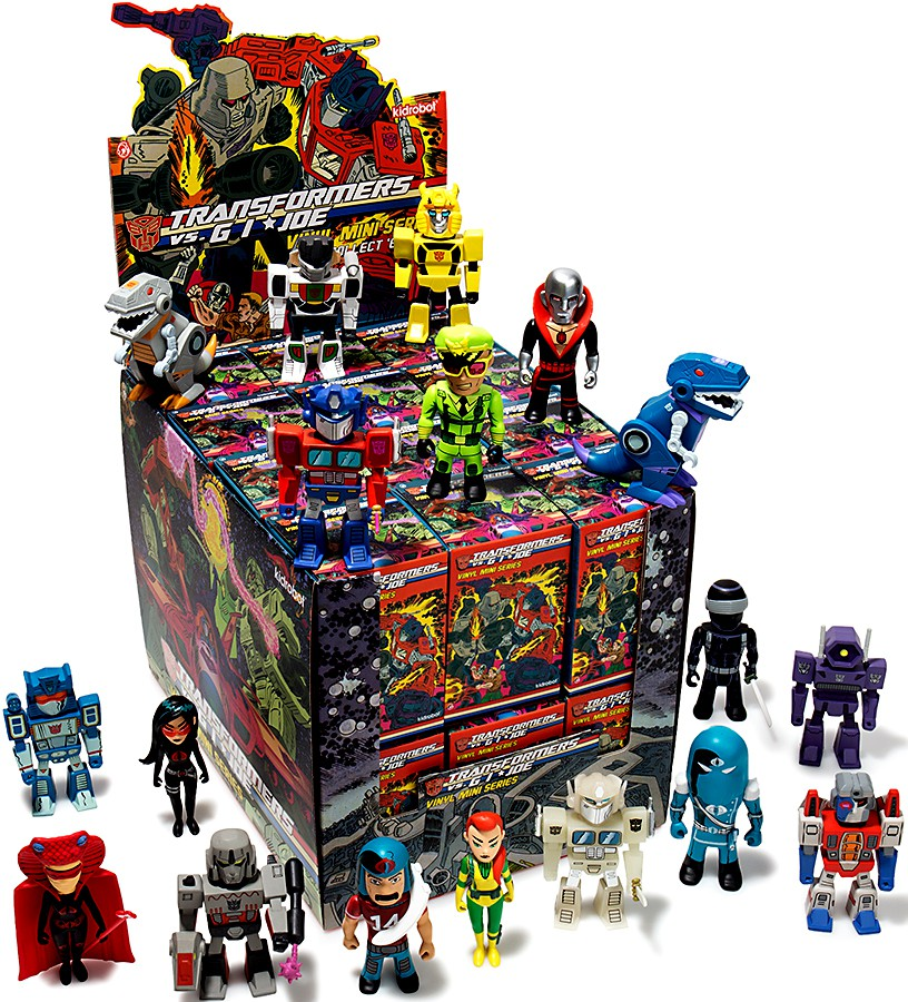 Transformers & GI Joe Vinyl Mini Series Mystery Box [24 Packs] by