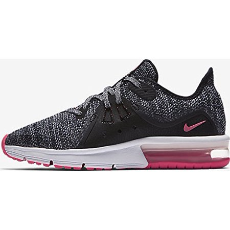 0cc2cade432 Nike - NIKE Air Max Sequent 3 (GS) Girls Fashion-Sneakers 922885-001 6Y -  Black White-Racer Pink - Walmart.com