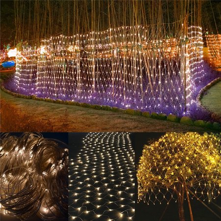 3mX2m LED Fairy String Decorative Lights 210 LEDs Net Mesh Tree-wrap Lights 8 Modes Low Voltage for Christmas Wedding Garden Decorations Home Garden - Led Decorative Lights