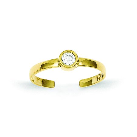 10K Gold CZ Toe Ring Body Jewelry