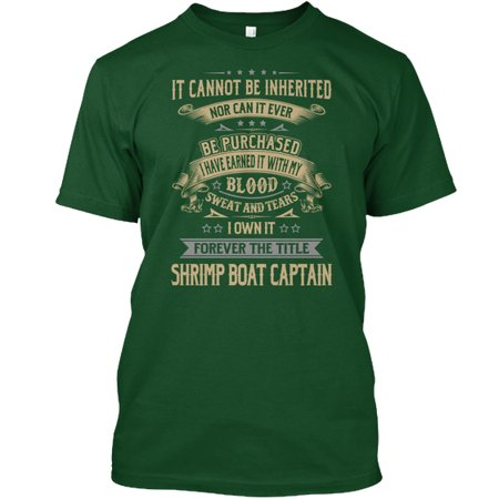 Shrimp Boat Captain Hanes Tagless Tee T-Shirt - Captain Of The Love Boat