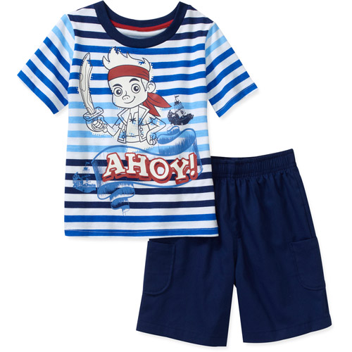Disney Baby Boys' Jake and the Neverland Pirates 2-Piece Tee and Short Set