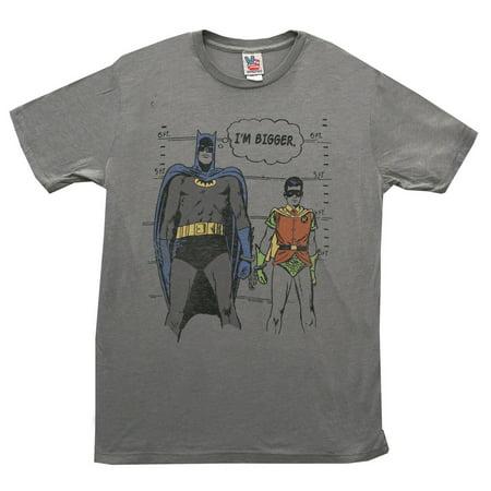 Batman And Robin DC Comics Height Chart Vintage Style Junk Food Adult T-Shirt (Batman And Robin Suits)