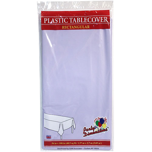 "Lavender  54"" x 108"" Rectangular  Plastic Disposable Party  Tablelcoth"