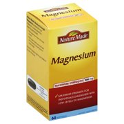 Nature Made Max Strength: Magnesium 500 mg Softgel 60 Ct EXP:05/2018